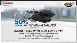 engine 155cc with blue core + vva